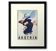 Ski Austria Framed Print
