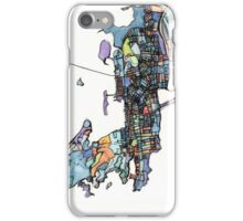 Abstract Map of Newport RI iPhone Case/Skin