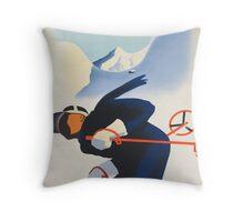 Ski Austria Throw Pillow