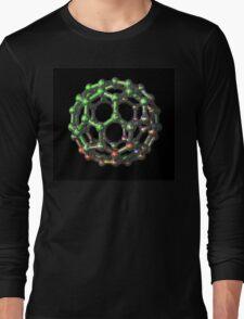 C70 Fullerene - Buckyball Carbon Molecule Long Sleeve T-Shirt