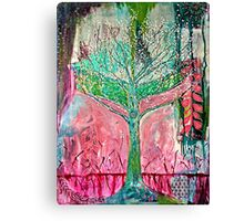 Acid tree japaneese cherry blossom watercolor Canvas Print