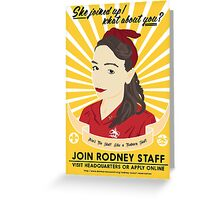 Join Rodney Staff Greeting Card