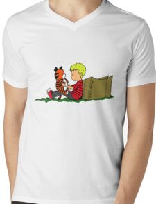 The Many Adventures of Hobbes Mens V-Neck T-Shirt
