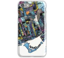Abstract Map of Toronto Ontario iPhone Case/Skin