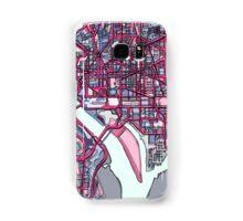 Abstract Map of Washington DC Samsung Galaxy Case/Skin