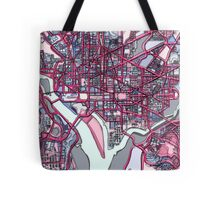 Abstract Map of Washington DC Tote Bag