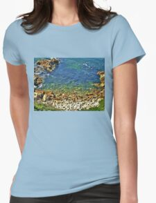 Into the Blue! Womens Fitted T-Shirt