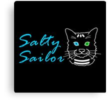 Salty Sailor Cat Dark Canvas Print