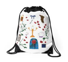 Beauty and the beast  Drawstring Bag