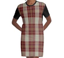 01366 Canna Fashion Tartan Graphic T-Shirt Dress
