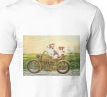 Sidecar Sisters - two welshies take a ride Unisex T-Shirt