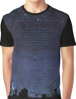 Night Graveyard Lyrics Graphic T-Shirt