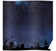 Night Graveyard Lyrics Poster