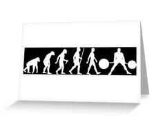Evolution of Man (Strongman) Greeting Card