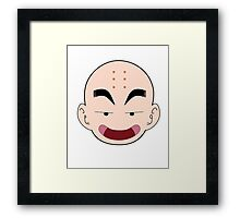 Krillin Big Face Framed Print