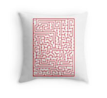 Maze in Red Throw Pillow