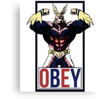 OBEY All Might - My Hero Academia  Canvas Print