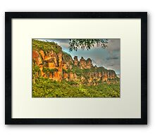 The Three Sisters ... with leaves Framed Print
