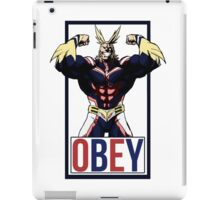 OBEY All Might - My Hero Academia  iPad Case/Skin