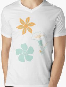 Floral Beauty Mens V-Neck T-Shirt