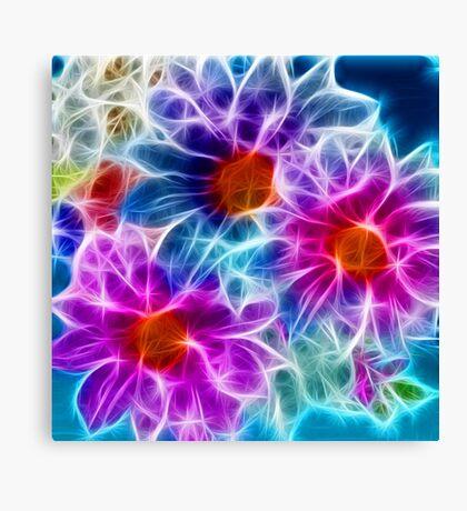 Sci-fi Flowers Canvas Print