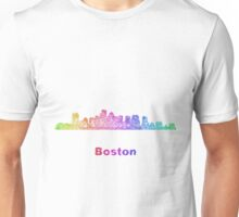 Rainbow Boston skyline Unisex T-Shirt