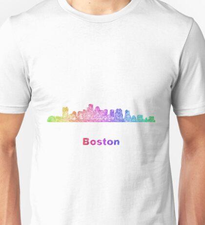 Rainbow Boston skyline Unisex T-Shirt
