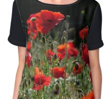 Red Poppies (Rote Mohnblumen) Chiffon Top