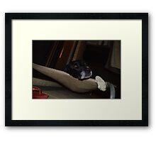 Let me sleep :( Framed Print