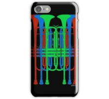 Six Trumpets red blue green iPhone Case/Skin