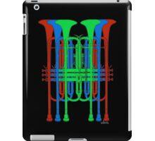 Six Trumpets red blue green iPad Case/Skin
