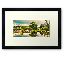 Stepping Stones. Framed Print
