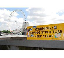 London Eye - Wheel of Fortune Photographic Print
