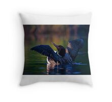 Rise 'n shine - Common loon Throw Pillow