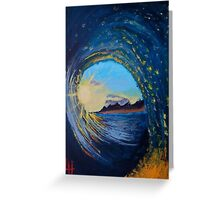 In the eye of the wave Greeting Card