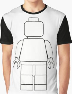 Awesome LEGO minifigure Outline Graphic T-Shirt