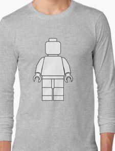 Awesome LEGO minifigure Outline Long Sleeve T-Shirt