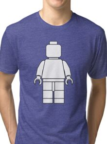 Awesome LEGO minifigure Outline Tri-blend T-Shirt