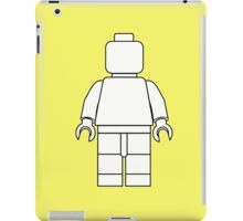Awesome LEGO minifigure Outline iPad Case/Skin