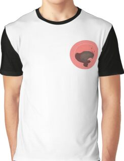 Tiny Floating Whale! (Pink) Graphic T-Shirt