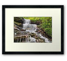 West Milton Cascades Framed Print