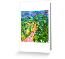 River Valley, by Roger Pickar, Goofy America Greeting Card