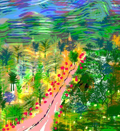 River Valley, by Roger Pickar, Goofy America Sticker