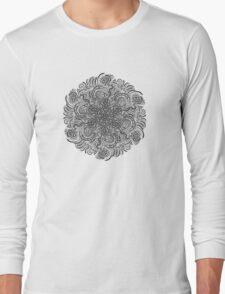 Mandala Black Long Sleeve T-Shirt