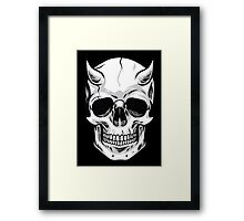 Demon Head Skull  Framed Print