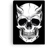 Demon Head Skull  Canvas Print