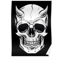 Demon Head Skull  Poster