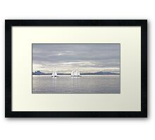 A Winters Sail Framed Print