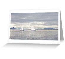 A Winters Sail Greeting Card