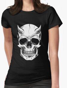 Demon Head Skull  Womens Fitted T-Shirt